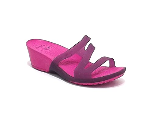 Crocs - Zapatillas de estar por casa para mujer Morado Fuxia 37: Amazon.es: Zapatos y complementos