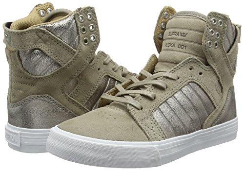Alte Beige Supra 098 Donna Sneaker taupe Skytop White qwx8REHF