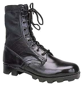 Ultra Force Black Jungle Boots, Black, 1R