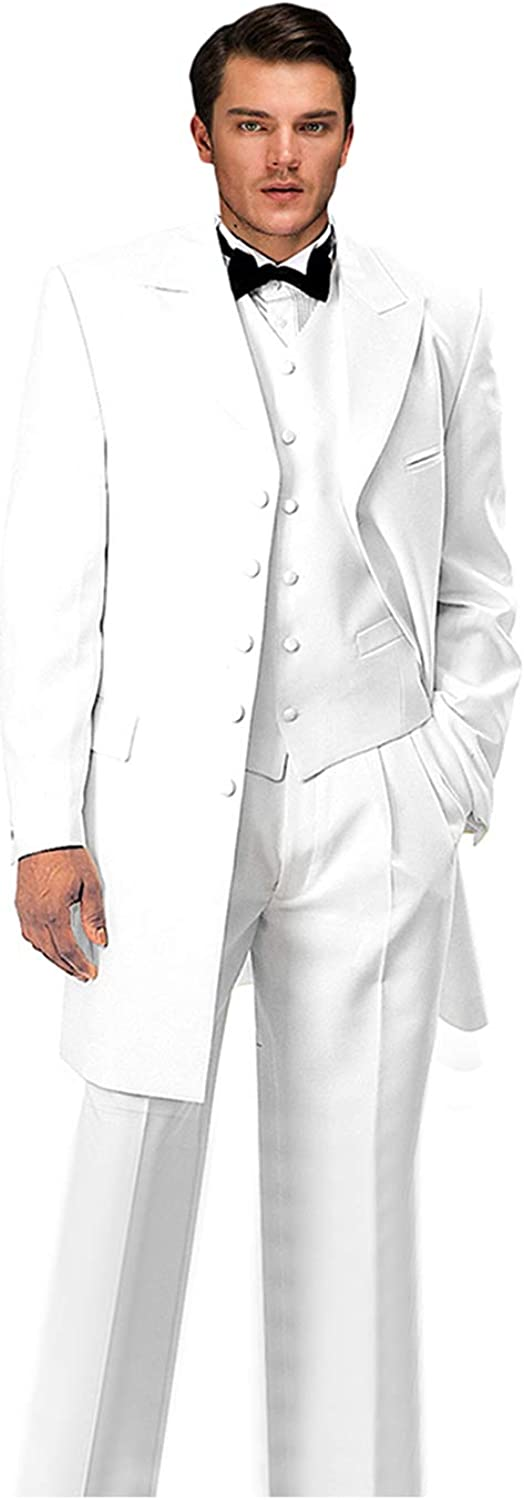 1970s Men's Suits History | Sport Coats & Tuxedos Wemaliyzd Mens Vintage 3 Pieces Suit Classic Fit Tuxedo Plus Size Vest Pants $84.49 AT vintagedancer.com