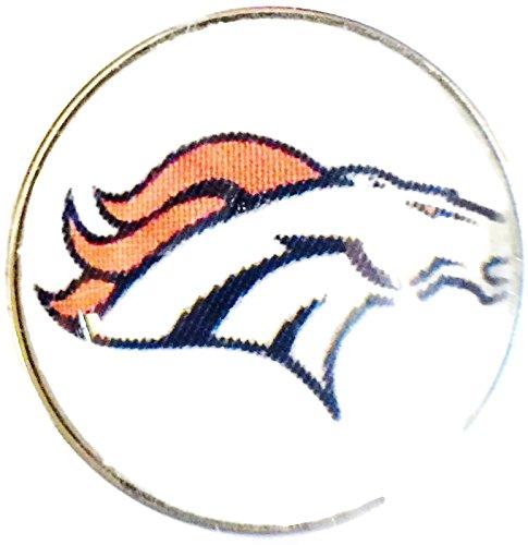 Nfl Logo Charm - Fashion Snap Jewelry NFL Logo Denver Broncos Snap Charm