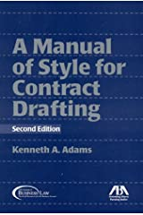 Manual of Style for Contract Drafting Paperback