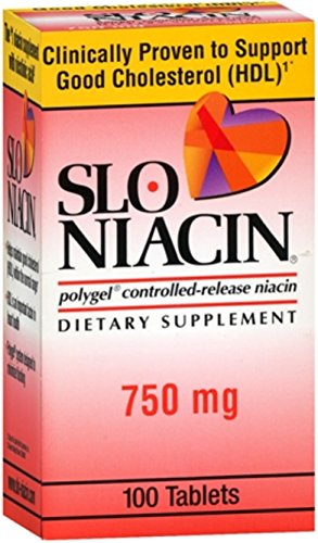 Slo-Niacin 750 mg Tablets 100 Tablets (Pack of 4) by Slo-Niacin