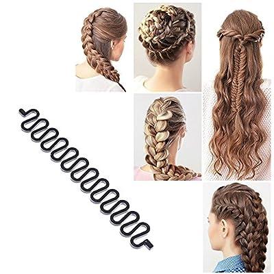 1Pc Hair Braiding Tool Roller With Hook Magic Hair Twist Styling Bun Maker DIY Hair Style Accessories Black