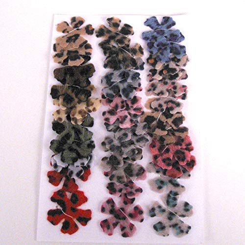 Furry Animal Print Fabric Die Cut Flowers from Suzanne Medrano