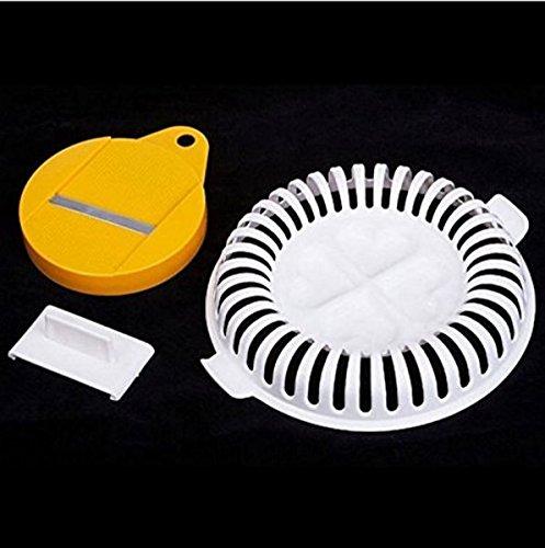 foopp DIY práctico dispositivo de microondas hecho a mano saludable patatas chips Crisp cortador