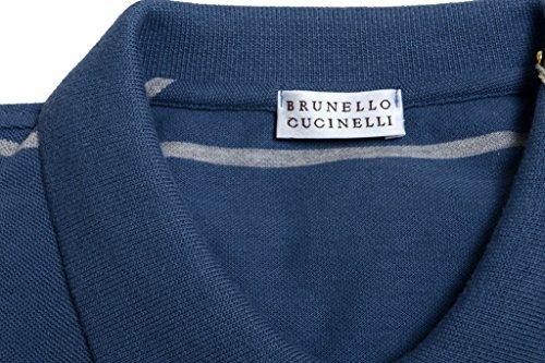 Brunello Cucinelli Men's Striped Short Sleeve Polo Shirt US 2XL IT 56;