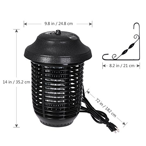 YUNLIGHTS Electric Bug Zapper, 40W Outdoor Mosquito Killer Lantern with Free Hanger, IPX4 Insect Fly Zapper Light for Patio, Gardens, Yards, Pool Area by YUNLIGHTS (Image #1)