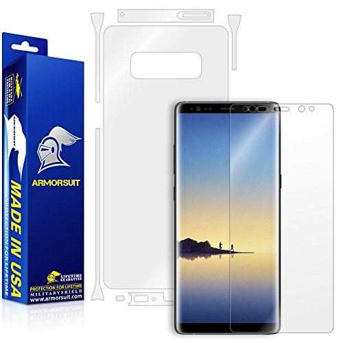ield - Galaxy Note 8 Screen Protector + Clear Full Body Back Protector Lifetime Replacement Anti-Bubble (Full Body Shield Protector)