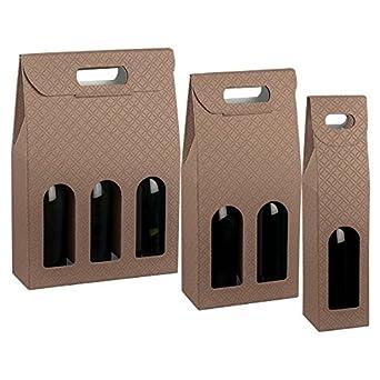 Propac z-botc3 caja para botellas Linea Heritage piel, 27 x 9 x 38,5 cm, pack de 30: Amazon.es: Industria, empresas y ciencia