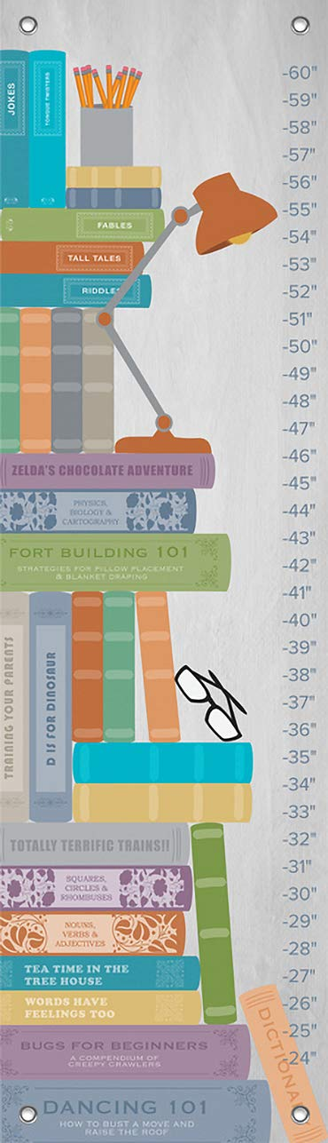 Stack of Books 12 x 42 12 x 42 Fine Art for Kids NB19018 Oopsy Daisy Growth Chart