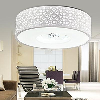 JJ moderna lámpara de techo LED Circular blanco minimalista ...