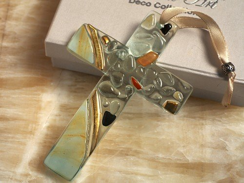 Murano Art Deco Collection Glass Cross C5022 Quantity of 1