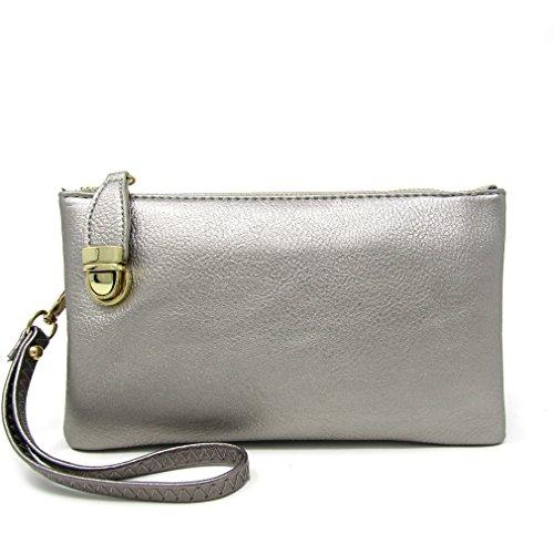 Bag Multi Womens Functional Bag Pewter Light Compartment Crossbody Solene Shoulder FRwTT