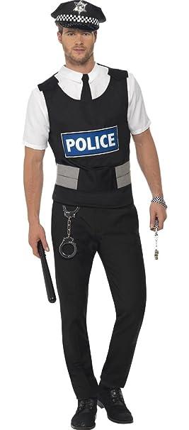 2dec3d781b Mens Instant Police Policeman Uniform Cop Stag Do Emergancy Services Fancy  Dress Costume Outfit Kit