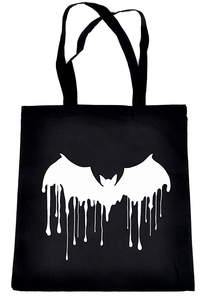 Gothic Vampire Bat Blood Drip Tote Bag Alternative Clothing Book Bag Dracula