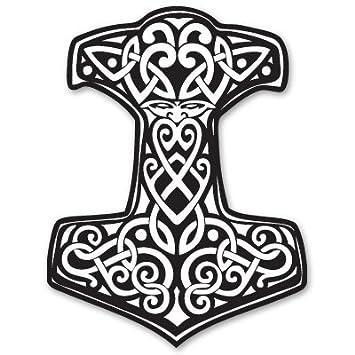 Ak Wall Art Thor S Hammer Viking Norse Ornament Vinyl Sticker Car Window Bumper Laptop Select Size
