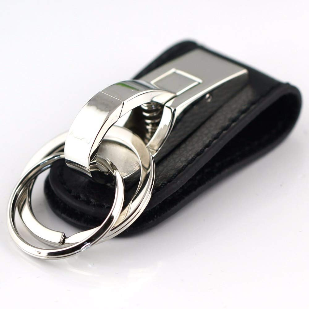 Amazon.com: Occus Genuine Leather Keychain Key Ring Through ...