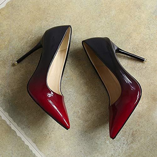 Scarpe Party Basso Comfort Sandali Elegant Zeppa Rosso Estivi Con Sandalo Sera Shoe Tacco Mid Basse Fibbia Donna Dresslksnf OnwxPP