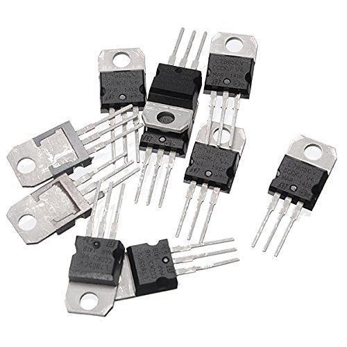 Utini 10pcs L7805CV TO220 L7805 TO-220 7805 LM7805 MC7805 Original IC