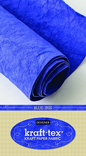 "Price comparison product image kraft-tex Blue Iris Prewashed & Hand-Dyed in Italy: Vegan Leather Alternative,  18.5"" x 28.5"" Roll (kraft-tex Designer)"