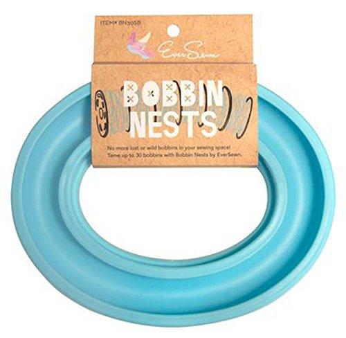 Bobbin Nest In Sky Blue By EverSewn - Bobbin Storage - Bobbin Ring - Holder - BN30SB by Ever Sewn