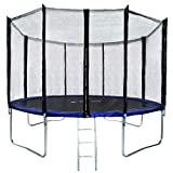 Safly Zone Trampoline for Kids 12ft Outdoor Trampoline with Enclosure Net Spring Pad-Added