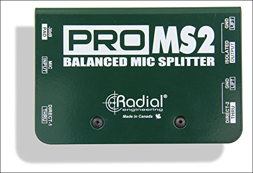 Passive Microphone Splitter (Radial ProMS2 Passive Microphone Splitter)
