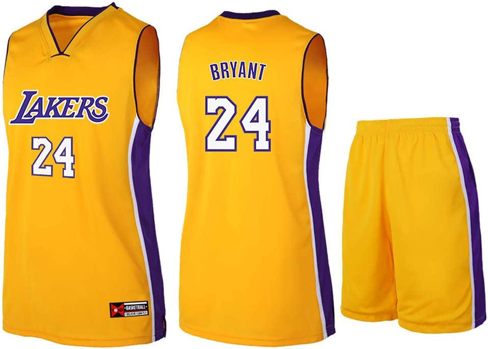 Camiseta de baloncesto Lakers Lebron James Kobe Bryant Fans de la NBA para niños y adolescentes adultos, kobe-yellow, L(160-165CM): Amazon.es: Deportes y aire libre