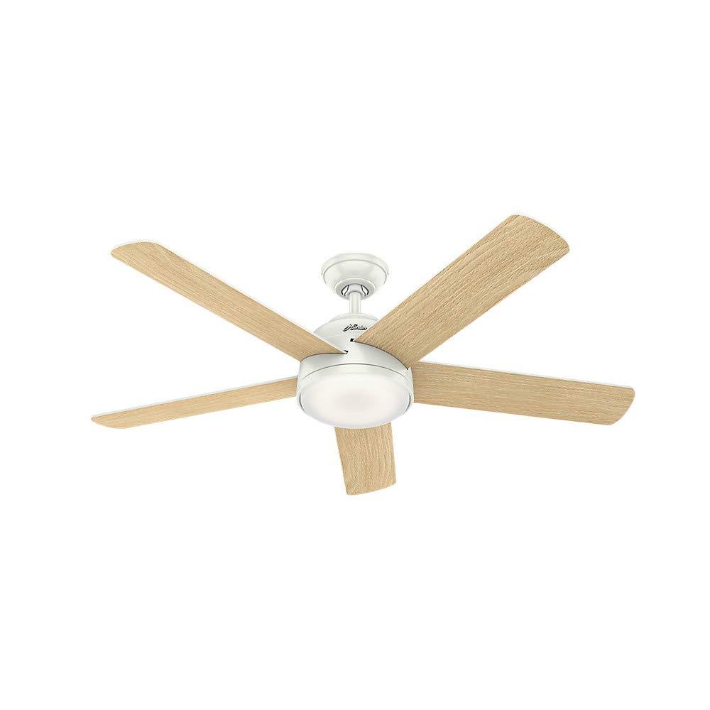 Hunter Fan Company 59478 Hunter 54'' WiFi Romulus Fresh White LED Light Kit and Remote Control Ceiling Fan,