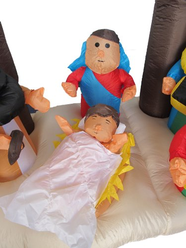 6 Foot Christmas Inflatable Nativity Scene with Three Kings Party Decoration by BZB Goods (Image #3)