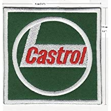 CASTROL GAS & OIL F1 RACING EMBROIDERED IRON ON PATCH T15 by Siam Trade