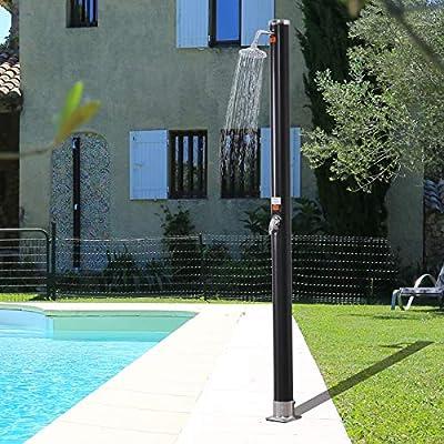 Outsunny Ducha Solar Exterior de PVC 20L Ducha de Jardín o Ducha ...