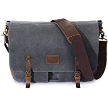 Lifewit Wax Canvas Messenger Bag Cross Body Laptop Conputer shoulder Bag