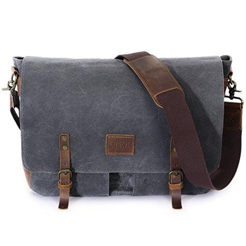 Laptop Messenger Cross Body (Lifewit Wax Canvas Messenger Bag Cross Body Laptop Conputer shoulder Bag)