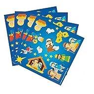 Fun Express Nativity Christmas Sticker Treat Pack - 50 Individual Sheets