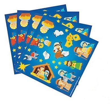 Fun Express Nativity Christmas Sticker Treat Pack -