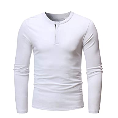 2cfd9762f33f47 Covermason Homme Polo Shirt de Slim Fit V Neck Manches Longues T-Shirt Col à