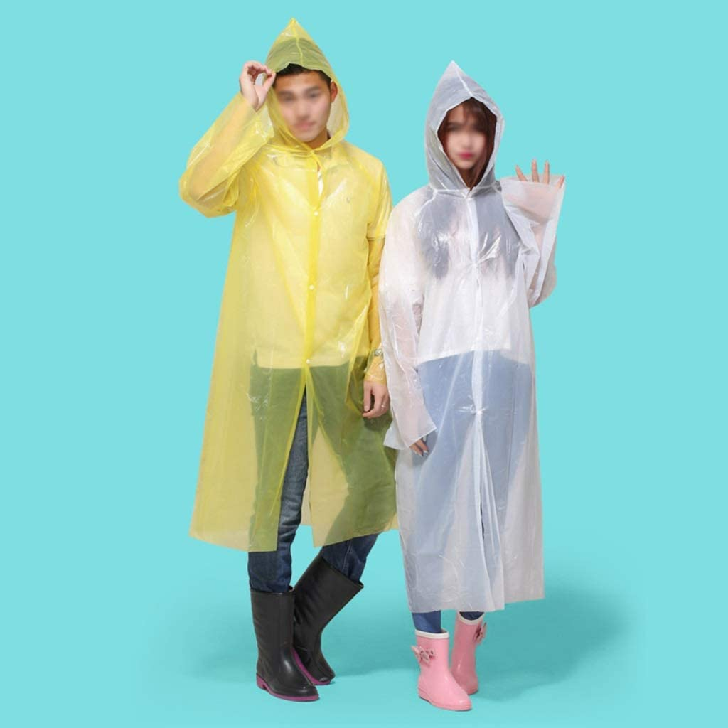 Xinxin-Shop-Rainwear Disposable Raincoat Adult Outdoor Portable Poncho Color : Red- Open Buckle Style