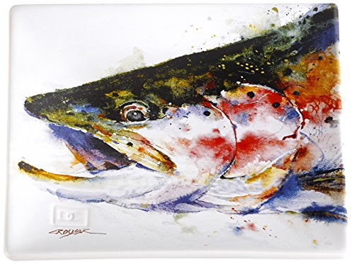 Big Sky Carvers Trout Snack Plate, Multicolor