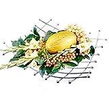 Wire Fruits Bowl Decorative Lattice Fruit Basket,Vegetables Holder Stand, Chrome Finish