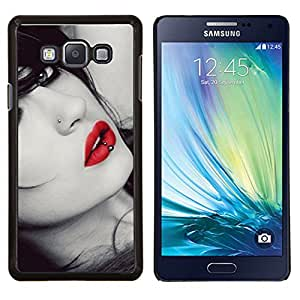 Queen Pattern - FOR Samsung Galaxy A7 - lips sensual woman lady girl sexy red gaze - Cubierta del caso de impacto con el patr???¡¯???€????€????&