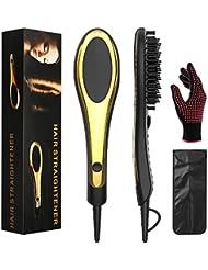 Hair Straightener Brush: Curly/Natural Hair Straightening...