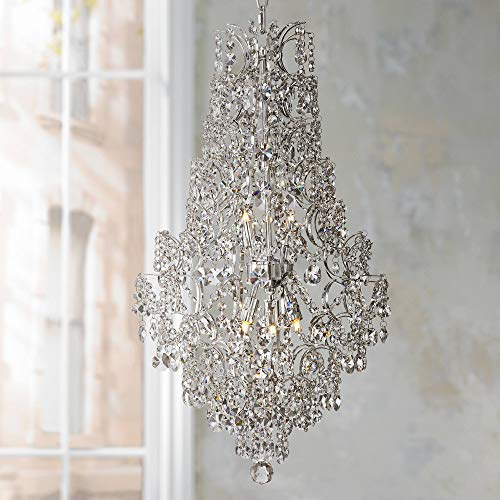 Marilyn 18 1 4 Wide Chrome and Crystal Chandelier