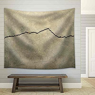 Cracking Concrete - Fabric Wall Tapestry Home Decor - 68x80 inches