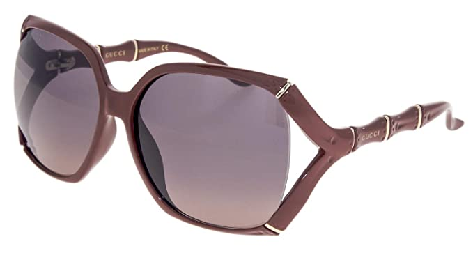 f950aacb55 GUCCI Bamboo GG0505S Red Brick Gold Sunglasses 3508  Amazon.co.uk ...