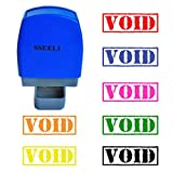 SSEELL VOID Self Inking Rubber Stamp Self-Inking RE-inkable Pre-inked Office Stationary Flash Stamps - Purple Ink Color