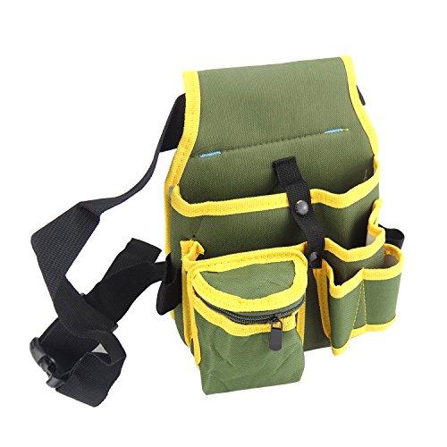 Plum Garden Electrical Maintenance Tool Pouch Bag Technician's Tool Holder, Heavy Duty Canvas bags Tool, 7 Pockets holder Organizer with Belt
