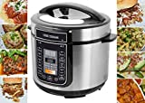 LOUISE STURHLING 10-in-1 Programmable 6 Qt Pressure Cooker, 14 Programmed Menus, 7 Safety Features, High-Grade Stainless Steel Body, Durable Double Coated Non-Stick Pot, Plus FREE Cookbook