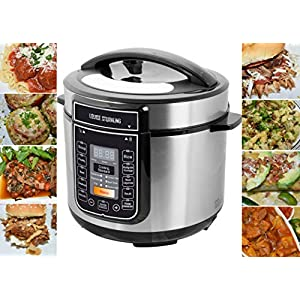LOUISE STURHLING 10-in-1 Intelligent 6 Qt Pressure Cooker, 14 Programmed Menus, 7 Safety Features, High-Grade Stainless… 10